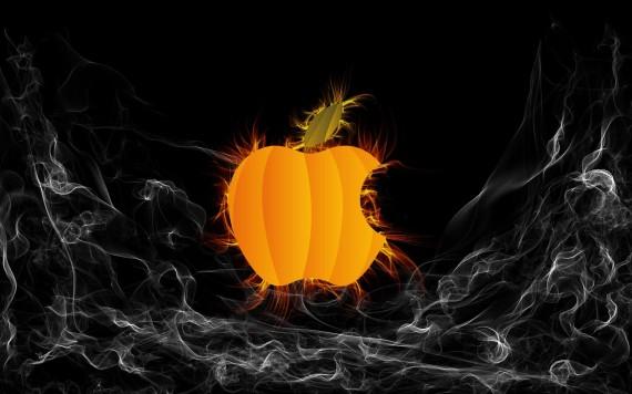 Apple Halloween Wallpaper